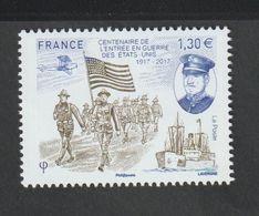 TIMBRE - 2017 - N° 5156  - 1ère Guerre Mondiale ,Centenaire De L'entrée En Guerre Des  Etats Unis  - Neuf Sans Charnière - France
