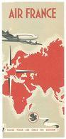 Dépliant Publicitaire Air France  ( Aviation, Avion Constellation ) 1951 - Publicités