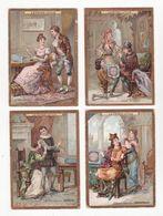 Chromo  BISCUITS LEFEVRE UTILE    Lot De 8   Costumes Historiques, Louis XI, Henri IV, Charlemagne Etc     10.7 X 7.5 Cm - Lu