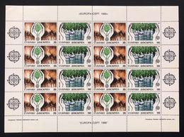 Grecia Greece 1986  Europa Cept 1986 Foglietti Set - Blocks & Sheetlets