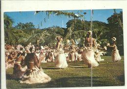 ( POLYNESIE  FRANCAISE ) ( TAHITI      ) DANSES TAHITIENNES PENDANT LES FETES DU 14 JUILLET - Polynésie Française