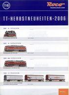 Catalogue ROCO 2006 TT - Herbstneuheiten TT-06 1/120 - Libros Y Revistas