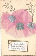 SAINTE-CATHERINE-BONNET EN TISSU, RUBAN, DENTELLE,toute Mon Amitié Dans Un Doux Baiser - Sainte-Catherine