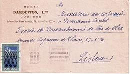 Mechanical Postmark  ZONAS POSTAIS , 1972 ,  Modas BARBEITOS Couture Cover , Martyrs Of Brazil Stamp - Postmark Collection