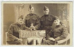 ERKELENZ - Carte Photo - Belgische Soldaten Duitse Bezetting 1921 - Soldaten Während Der Belgischen Besatzung 1921 - Erkelenz