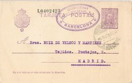 36808. Entero Postal BARCELONA 1927, VARIEDAD Error Impresion, Num 57n º - Enteros Postales