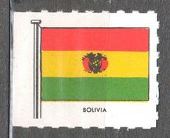 Bolivia - FLAG FLAGS Cinderella Label Vignette - Ed. 1950's Great Britain MNH - Bolivia