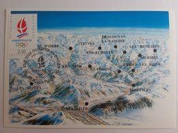 Albertville 8 Février 1990 Premiers Jours D'émission, Non Circulé Non écrite. - Jeux Olympiques