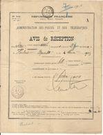 AVIS DE RECEPTION . LETTRE VALEUR DECLAREE .CONAKRY - Guinea Francese (1892-1944)