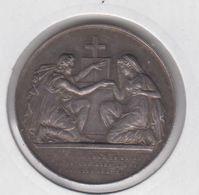 """FRANCE - Medaille De Mariage """"l'homme Ne Separes Pas Ce Que L'homme A Uni"""" (argent) - Professionnels / De Société"""