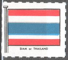 SIAM Thailand - FLAG FLAGS Cinderella Label Vignette - Ed. 1950's Great Britain MNH - Siam