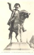 CPA 50 - 44. CHERBOURG - La Statue De Napoléon Ier Par Le Véel (Détail) - LL - Fautée (Satue Pour Statue) - Cherbourg