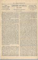LETTRE JOURNAL . GAZETTE DES ABSENTS . N° 9 . VIERGE . PAR BALLON MONTE - Poststempel (Briefe)