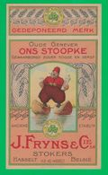 "Hasselt Distillerie J. Fryns & Cie. Genever "" Ons Stoopke "" - Etiquettes"