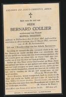 BERNARD COULIER   POLLINCHOVE  1847          ALVERINGHEM  1927 - Obituary Notices