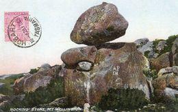 Australie  - CPA. M T WELLINGTON - Rocking Stone - 1928. Avec Timbre - Scan Du Verso - - Hobart