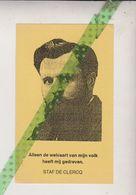 Herdenking Staf De Clercq, V.N.V, Everbeek 1884, Gent 1942, Blaadje Broederband West-Vlaanderen, 1993, Diksmuide - Obituary Notices