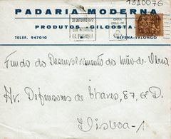Caixa G Depósitos Mechanical  1972  Postmark ,  PADARIA MODERNA , Produtos GILCOSTA Cover - Postmark Collection