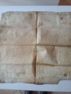 LISIEUX Grand Parchemin ( 59 X 62  Cms ) 1541  Juridiction Germain ( ? ) Du Val , Vicomte De Lisieux - Historical Documents