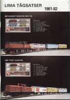 Catalogue LIMA 1981-82 Tåg HO Elektric Train DEFEKT Missing Cover  - En Suédois - Libros Y Revistas