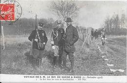 Voyage De S.M. LE ROI DE SUEDE A PARIS - 23 Novembre 1908 - Le Roi Dans Les Tirés De Rambouillet - Jacht