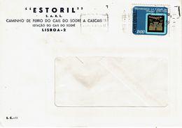 Commercial Cover ESTORIL CAMINHOS DE FERRO , Railways CAIS DO SODRÉ -  CASCAIS , 1972  Pinhel Stamp - Poststempel (Marcophilie)