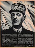 1947 TRACT Du Général De GAULLE - Fondation Du R.P.F. (Rassemblement Du Peuple Français) - Documents Historiques