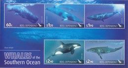 Ross, Bloc N° 2 (Cétacés : Cachalot, Rorqual, Orque, Baleine à Bosse Et De Minke) Neuf ** - Ross Dependency (New Zealand)