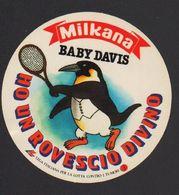 Stikers Milkana Baby Davis Cup Tennis Penguin Adesivi Milkana Pinguino Autocollants Pingouin FAS00004 - Stickers