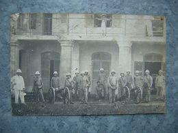 CARTE PHOTO - VIETNAM - TONKIN - MONCAY - SECTION D' ARTILLERIE - COLONIALE - Viêt-Nam