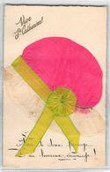 SAINTE-CATHERINE-BONNET EN TISSU, RUBAN, DENTELLE Voici Le Doux Présage , Un Heureux Mariage - Sainte-Catherine