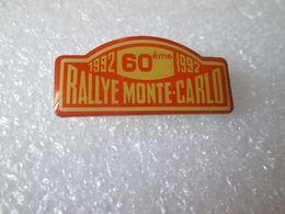 PIN'S     RALLYE  MONTE CARLO  1992 - Rally