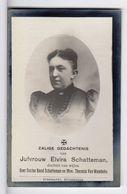 Doodsprentje VROUW FEMME Elvira SCHATTEMAN °1860 RUYSSELEDE +1916 RUYSSELEDE RUISELEDE // VAN WAMBEKE - Andachtsbilder