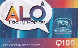 GUATEMALA - ALO, PCS Prepaid Card Q100, Used - Guatemala