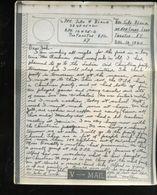 V-mail WWII Dec 1943 APO 12475D John W. Black 32487502 (V-1j) - Documents Historiques