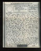 V-mail WWII Dec 1943 APO 12475D John W. Black 32487502 (V-1k) - Documents Historiques