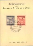 """1944, """"Grosser Preis Von Wien"""", Kleines Sonderblatt - Paardensport"""