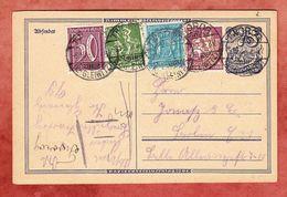 P 146 Postreiter + ZF, Tworog Kr Gleiwitz Nach Berlin 1922 (95259) - Stamped Stationery