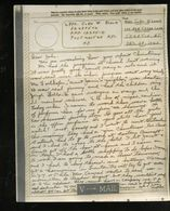 V-mail WWII Dec 1943 APO 12475D John W. Black 32487502 (V-1n) - Documents Historiques