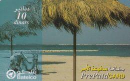 BAHRAIN - Beach, Batelco Prepaid Card BD 10, Used - Bahrein