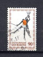 San Marino :  22a OLIMPIADE - Basket  -  L 90   USATO  --  10.07.1980 - Saint-Marin