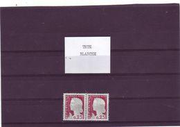 N° 1263 - 0,25 DECARIS - Tête Blanche Tenant à Normale - 1960 Maríanne De Decaris