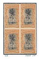 """COB N° 56 En Blocs De 4 Type """"Mols"""" Bilingues 15 C Ocre XX MNH Côte 4.80€ - 1894-1923 Mols: Mint/hinged"""