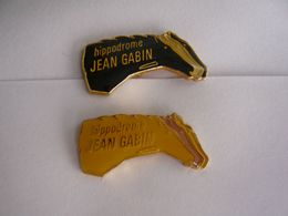 Rare 2  Pin S JEAN GABIN HIPPODROME  Different - Personnes Célèbres