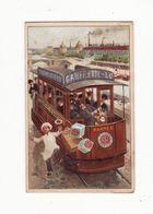 Chromo  BISCUITS LEFEVRE UTILE    Chromo à Système   Cuisinier, Tramway   CALENDRIER 1905     13.9 X 11 Cm Déplié - Lu