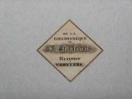 Ex-libris Typographique XIXème - BELGIQUE - J.-L. MASSAU Huissier A VERVIERS - Ex-libris