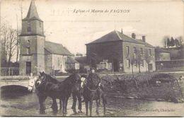 08 - Eglise Et Mairie De FAGNON - Autres Communes