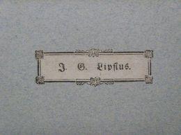 Ex-libris Typographique XVIIIème - BELGIQUE - J.-L. LIPSIUS - Ex-libris