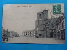 22 ) Corlay - N° 13 - Place De L'eglise - Année 1913 - EDIT : - Autres Communes