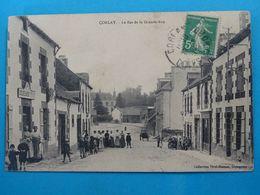 """22 ) Corlay - Le Bas De La Grande-rue  """" Tabacs  """" GOUEDARD  """" - Année 1913 - EDIT : Tirel-hamon - Autres Communes"""